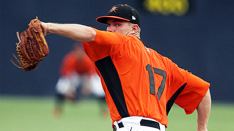 Dylan Bundy is 2-1 with a 3.00 ERA in three Carolina League starts.