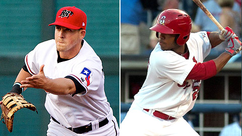Frisco's Chris McGuiness will try and counter the hot bat of Oscar Taveras.